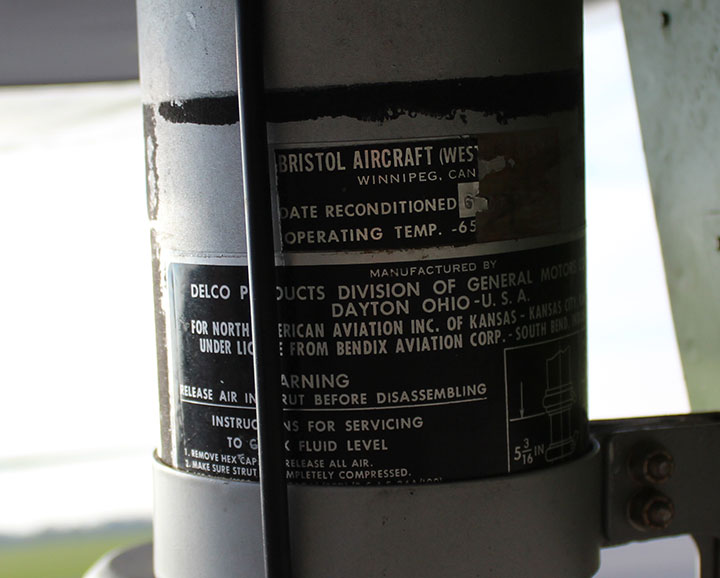 725d0fc4912 This is a rare but interesting of a Delco Products manufactured nose strut  for a North American B-25. Rare in that normally 70 years after manufacture  the ...
