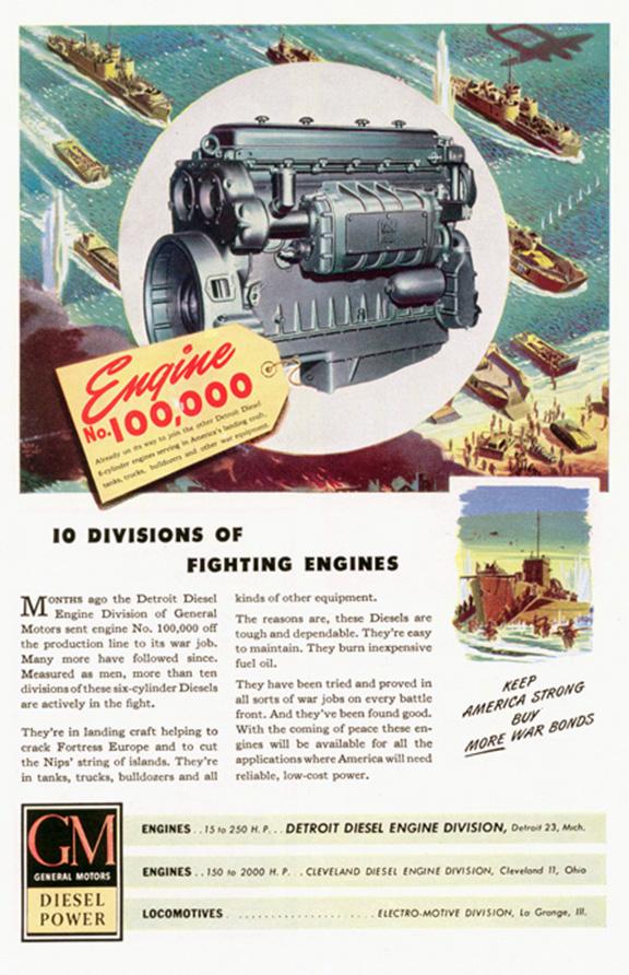 Detroit Diesel Division Of Gm In World War Two