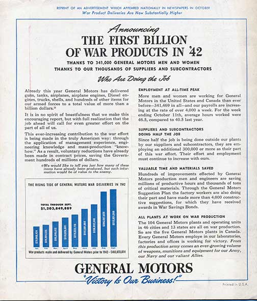gm in world war two progress in military technology