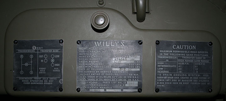 Willysoverland Motors In Wwiirhusautoindustryworldwartwo: 1944 Willys Jeep Vin Number Location At Elf-jo.com